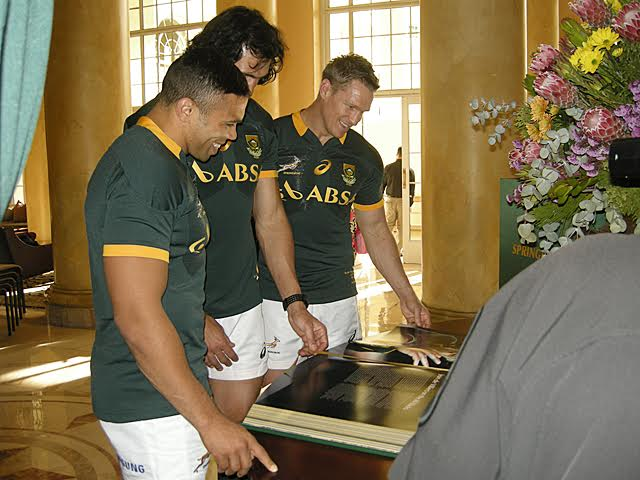 The Official Springbok Opus - First Team Copy Arrives