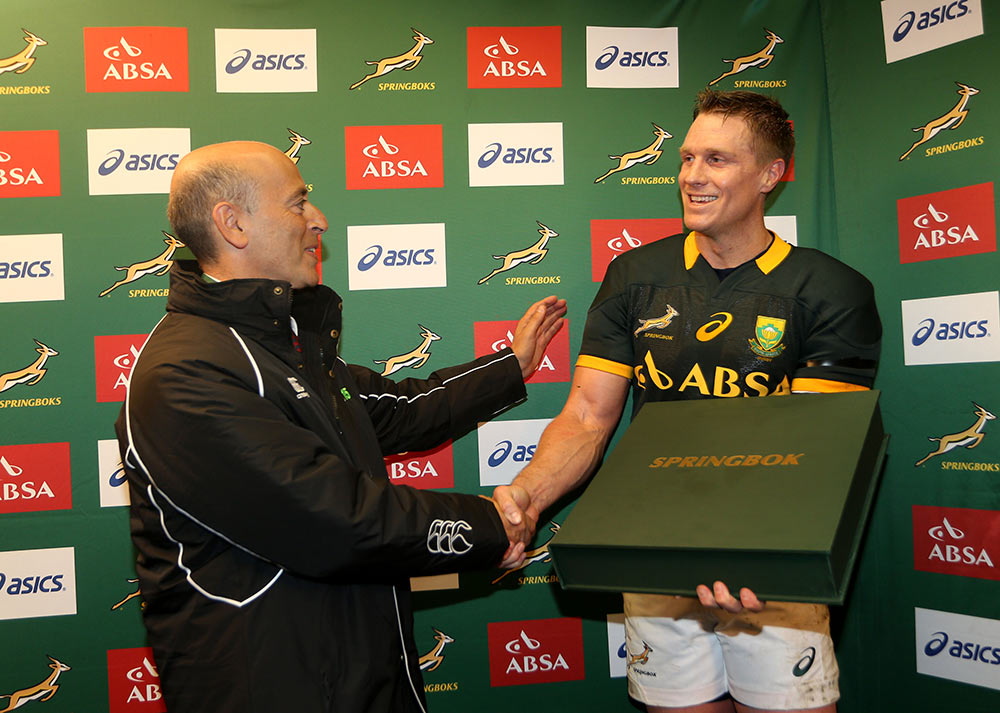 World XV presented with Springbok Opus
