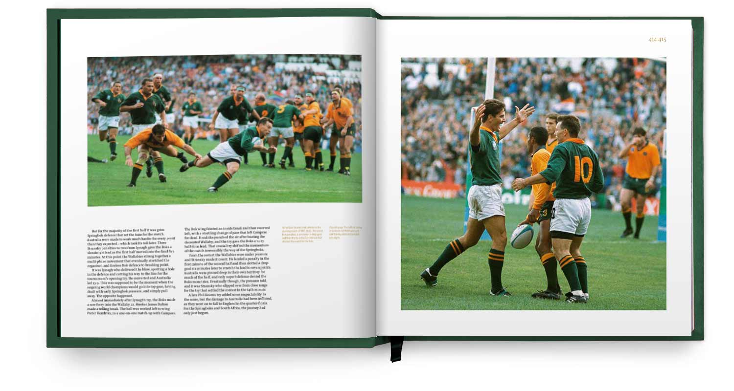 Pages from Champions of the World section of the Springbok Opus