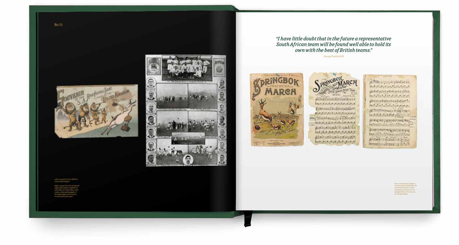 Pages from the Humble Beginnings section of the Springbok Opus